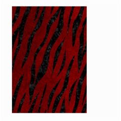 Skin3 Black Marble & Red Grunge Large Garden Flag (two Sides) by trendistuff