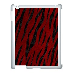 Skin3 Black Marble & Red Grunge Apple Ipad 3/4 Case (white)