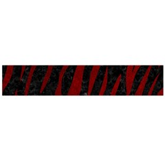 Skin3 Black Marble & Red Grunge (r) Flano Scarf (large) by trendistuff
