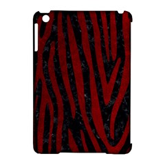 Skin4 Black Marble & Red Grunge Apple Ipad Mini Hardshell Case (compatible With Smart Cover) by trendistuff