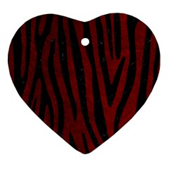 Skin4 Black Marble & Red Grunge (r) Heart Ornament (two Sides) by trendistuff