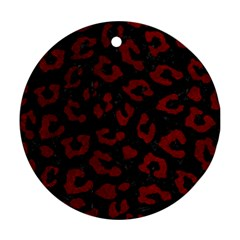 Skin5 Black Marble & Red Grunge Round Ornament (two Sides) by trendistuff