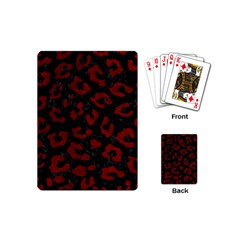 Skin5 Black Marble & Red Grunge Playing Cards (mini)  by trendistuff