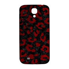 Skin5 Black Marble & Red Grunge Samsung Galaxy S4 I9500/i9505  Hardshell Back Case by trendistuff