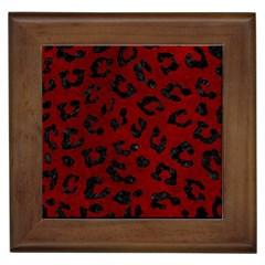 Skin5 Black Marble & Red Grunge (r) Framed Tiles by trendistuff