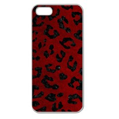Skin5 Black Marble & Red Grunge (r) Apple Seamless Iphone 5 Case (clear) by trendistuff