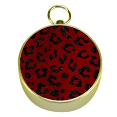 Skin5 Black Marble & Red Grunge (r) Gold Compasses