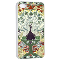 Art Nouveau Peacock Apple Iphone 4/4s Seamless Case (white) by 8fugoso