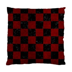 Square1 Black Marble & Red Grunge Standard Cushion Case (two Sides) by trendistuff
