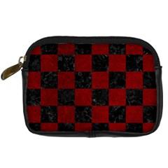 Square1 Black Marble & Red Grunge Digital Camera Cases by trendistuff