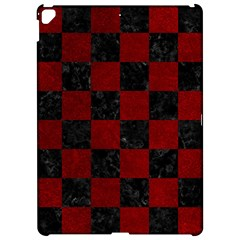 Square1 Black Marble & Red Grunge Apple Ipad Pro 12 9   Hardshell Case by trendistuff