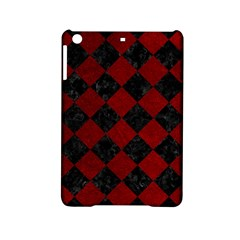 Square2 Black Marble & Red Grunge Ipad Mini 2 Hardshell Cases by trendistuff