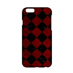 Square2 Black Marble & Red Grunge Apple Iphone 6/6s Hardshell Case by trendistuff