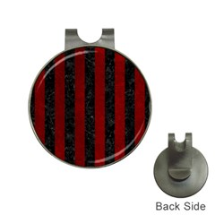 Stripes1 Black Marble & Red Grunge Hat Clips With Golf Markers by trendistuff
