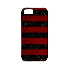 Stripes2 Black Marble & Red Grunge Apple Iphone 5 Classic Hardshell Case (pc+silicone) by trendistuff