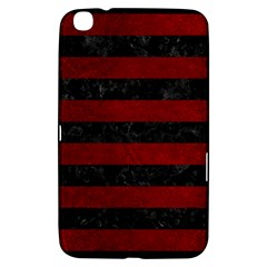 Stripes2 Black Marble & Red Grunge Samsung Galaxy Tab 3 (8 ) T3100 Hardshell Case  by trendistuff