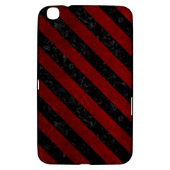 Stripes3 Black Marble & Red Grunge Samsung Galaxy Tab 3 (8 ) T3100 Hardshell Case  by trendistuff