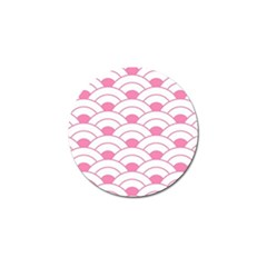 Art Deco Shell Pink White Golf Ball Marker by 8fugoso
