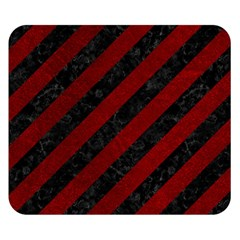 Stripes3 Black Marble & Red Grunge (r) Double Sided Flano Blanket (small)  by trendistuff