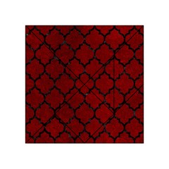 Tile1 Black Marble & Red Grunge Acrylic Tangram Puzzle (4  X 4 ) by trendistuff