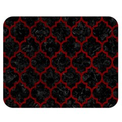 Tile1 Black Marble & Red Grunge (r) Double Sided Flano Blanket (medium)