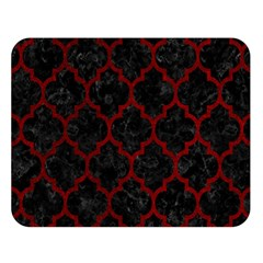 Tile1 Black Marble & Red Grunge (r) Double Sided Flano Blanket (large)
