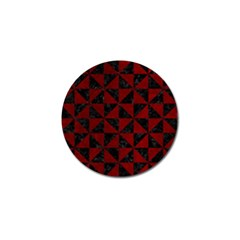 Triangle1 Black Marble & Red Grunge Golf Ball Marker (10 Pack) by trendistuff
