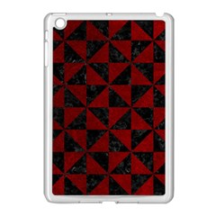 Triangle1 Black Marble & Red Grunge Apple Ipad Mini Case (white) by trendistuff