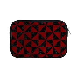 Triangle1 Black Marble & Red Grunge Apple Macbook Pro 13  Zipper Case by trendistuff