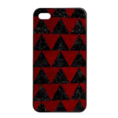 Triangle2 Black Marble & Red Grunge Apple Iphone 4/4s Seamless Case (black)
