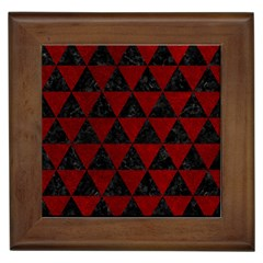 Triangle3 Black Marble & Red Grunge Framed Tiles by trendistuff