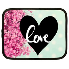 Modern Collage Shabby Chic Netbook Case (large) by 8fugoso