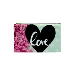Modern Collage Shabby Chic Cosmetic Bag (small)  by 8fugoso