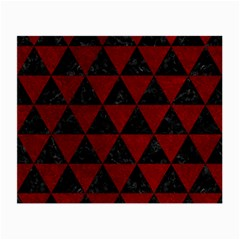 Triangle3 Black Marble & Red Grunge Small Glasses Cloth (2 Side) by trendistuff