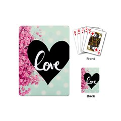 Modern Collage Shabby Chic Playing Cards (mini)  by 8fugoso