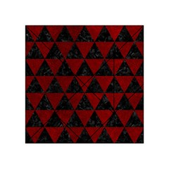 Triangle3 Black Marble & Red Grunge Acrylic Tangram Puzzle (4  X 4 ) by trendistuff