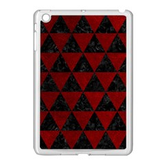 Triangle3 Black Marble & Red Grunge Apple Ipad Mini Case (white) by trendistuff