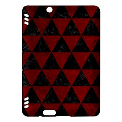 Triangle3 Black Marble & Red Grunge Kindle Fire Hdx Hardshell Case by trendistuff