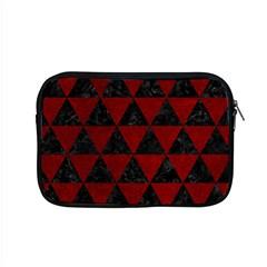 Triangle3 Black Marble & Red Grunge Apple Macbook Pro 15  Zipper Case by trendistuff