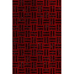 Woven1 Black Marble & Red Grunge 5 5  X 8 5  Notebooks by trendistuff