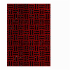 Woven1 Black Marble & Red Grunge Small Garden Flag (two Sides) by trendistuff
