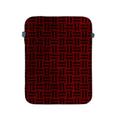 Woven1 Black Marble & Red Grunge Apple Ipad 2/3/4 Protective Soft Cases by trendistuff