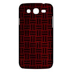 Woven1 Black Marble & Red Grunge Samsung Galaxy Mega 5 8 I9152 Hardshell Case  by trendistuff