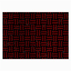 Woven1 Black Marble & Red Grunge (r) Large Glasses Cloth by trendistuff