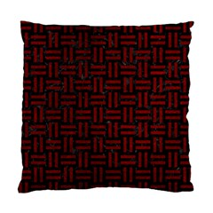 Woven1 Black Marble & Red Grunge (r) Standard Cushion Case (two Sides) by trendistuff