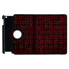 Woven1 Black Marble & Red Grunge (r) Apple Ipad 3/4 Flip 360 Case by trendistuff
