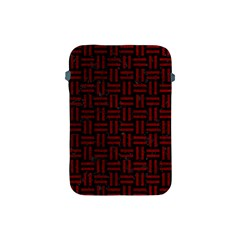 Woven1 Black Marble & Red Grunge (r) Apple Ipad Mini Protective Soft Cases by trendistuff