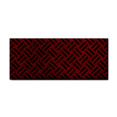 Woven2 Black Marble & Red Grunge Cosmetic Storage Cases by trendistuff