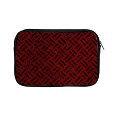 Woven2 Black Marble & Red Grunge Apple Ipad Mini Zipper Cases by trendistuff