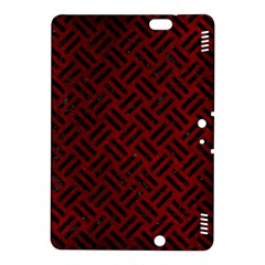 Woven2 Black Marble & Red Grunge Kindle Fire Hdx 8 9  Hardshell Case by trendistuff